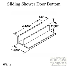 guide 11 16 opening sliding shower door bottom white