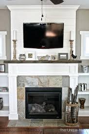 fireplace mantels tv stand