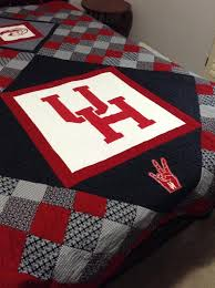 Go Team! 7 College Quilts and Blocks | College, Shirt quilts and ... & Looking for quilting project inspiration? Check out University of Houston  Quilt… Adamdwight.com