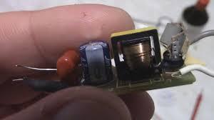 Ремонт драйвера светодиодной LED <b>лампы</b> - YouTube