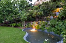 koi pond lighting ideas. How To Build A Backyard Waterfall For Beautiful Landscape Ideas: Koi Pond Design With Underwater Lighting Ideas