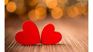 two hearts in love 4k wallpaper