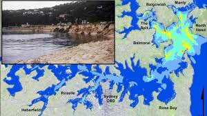 Tsunami centers across the region sent alerts for the public to stay off beaches and shore areas due to risks of unexpected currents and unusual waves. Tsunami Threat To Sydney Mapped Out In New Research By University Of Newcastle Bureau Of Meteorology Shows Whirlpools Big Tides