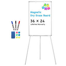 Portable Flip Chart Easel Stand Easel Whiteboard Magnetic Portable Dry Erase Easel Board 36 X 24 Tripod Whiteboard Height Adjustable Flipchart Easel Stand White Board For Office Or