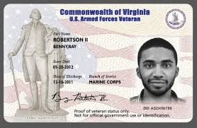 Virginia Id Veterans Card Virginia Virginia Card Id Veterans