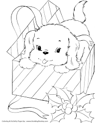 Small Picture Pet Dog Coloring Pages Free Printable Pet Puppy for Christmas