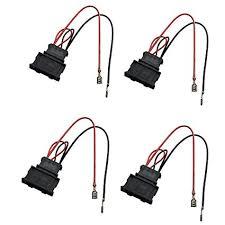 amazon com dkmus 2 x pairs speaker wiring harness wire cable vw dkmus 2 x pairs speaker wiring harness wire cable vw passat seat golf polo speakers adapter