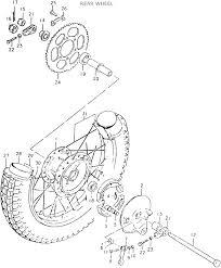 Suzuki ts125ert 1980 18 rear wheel date 01 08 2013