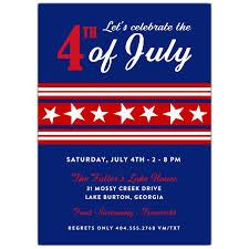 Fourth Of July Stars Vertical Invitations