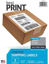 how to print a shipping label amazon com best print 200 half sheet best print shipping labels