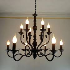 candle chandelier non electric outdoor luxury rustic wrought iron outdoor electric chandelier