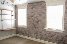 DIY Thin Brick Wall by Shanty2Chic