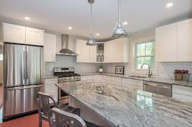 white kitchens with brown granite countertops