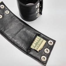 details about lambskin leather wrist band wallet bracelet cuff chic wallet wristband
