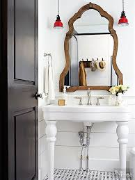 farmhouse pedestal sink. Farmhouse Style Bathroom With Pedestal Sink Throughout