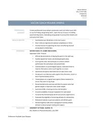Soccer Coach Resume Samples Tips And Templates Online