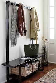 Metal Entryway Bench With Coat Rack Decor Black Metal Entryway Storage Bench And Coat Rack For 32