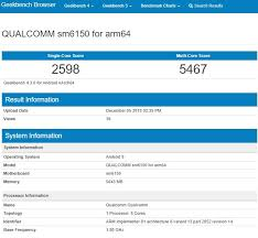 Snapdragon Processor Chart Qualcomms Upcoming Sm6150 Processor Appears On Geekbench