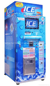 Commercial Vending Machine Gorgeous Automatic Ice Vending Machine HLQI48lbs Healthy China