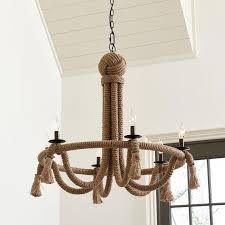 hinson 6 light rope chandelier