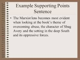 critical lens essay organization ppt example supporting points sentence