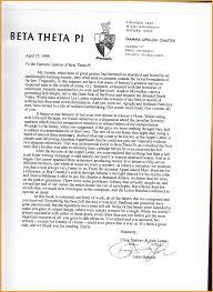 Sorority Recommendation Letter Sample Interest Letter For Sorority Bio Letter Format 12