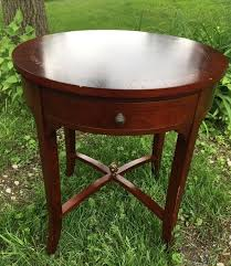 antique round end table round accent table 4 crescent drawers gorgeous wood pattern end