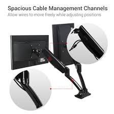 com loctek dual monitor arm desk monitor mounts fits 10 27 monitors gas spring lcd arm computers accessories