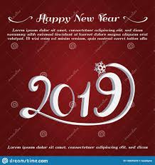 Happy New Year Greeting Card New Year 2019 Card Stock Vector