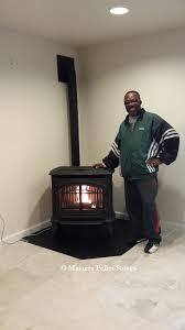 m55 free standing pellet stove