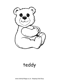 Small Picture Teddy Bear Colouring Pages