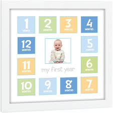Tiny Ideas First Year Baby Keepsake Frame