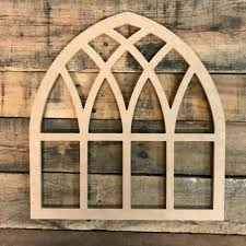 wooden cathedral window farm home decor