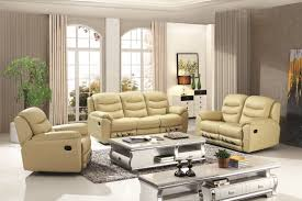 modern home reclining love seat genuine leather recliner sofa set furniture
