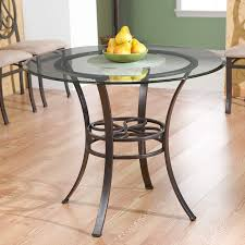 breathtaking round glass dining table with metal base 12 large bases for tops