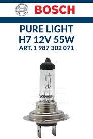 Ampoule Bosch H7 Pure Light 1 987 302 071 Ampoules Projecteur Original Bosch Pure Light H7 12 V 55 W