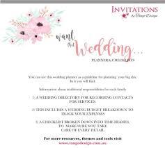 Wedding Detail Checklist Wedding Checklist Ebook Invitations By Tango Design