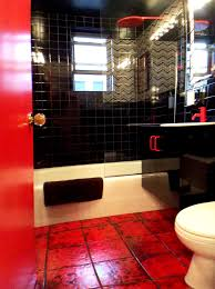 Outstanding Black And Red Bathroom Accessories Ideas Exterior