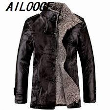 fashion men fur leather jacket winter style 4xl leather suede coat male cool fur er jacket