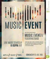 Template For Event Flyer Music Event Flyer Template Stock Vector Illustration Of Blurry
