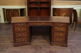 antique office table. george iii antique reproduction leather top executive desk office table e