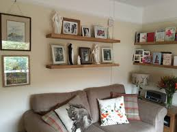 whether modern or traditional in theme our solid wood floating shelves are an elegant feature