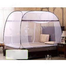 Square-roofed Ger-shape Mosquito Net Adult Students Bed Canopy 150 x ...