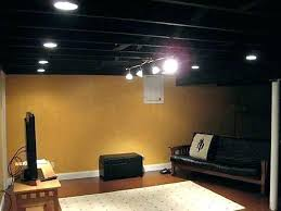 unfinished basement ceiling paint. Simple Basement Fascinating Painting Unfinished Basement Ceiling Painted  Black And Can Lights Intended Unfinished Basement Ceiling Paint T