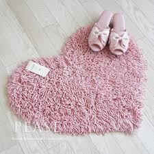 it is the very cute floor mat pink that expressed a heart motif with twist gy a unique bulky feeling such as the lacing braid which increased a twist
