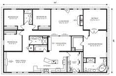 One Story House Plans With Large Kitchens   Irynanikitinska comGood One Story House Plans With Large Kitchens    Bedroom Modular Home Floor Plans