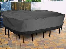 get ations outdoor patio furniture table and chairs cover 108 length dark grey with black hem
