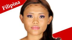 filipina makeup tutorial purple smokey eye look for asian eyes filipino make up transformation you