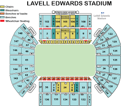 Real Salt Lake Seating Chart 3d Lavell Edwards Stadium Byu Tickets
