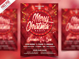 Christmas Party Flyer Psd Template Psdfreebies Com